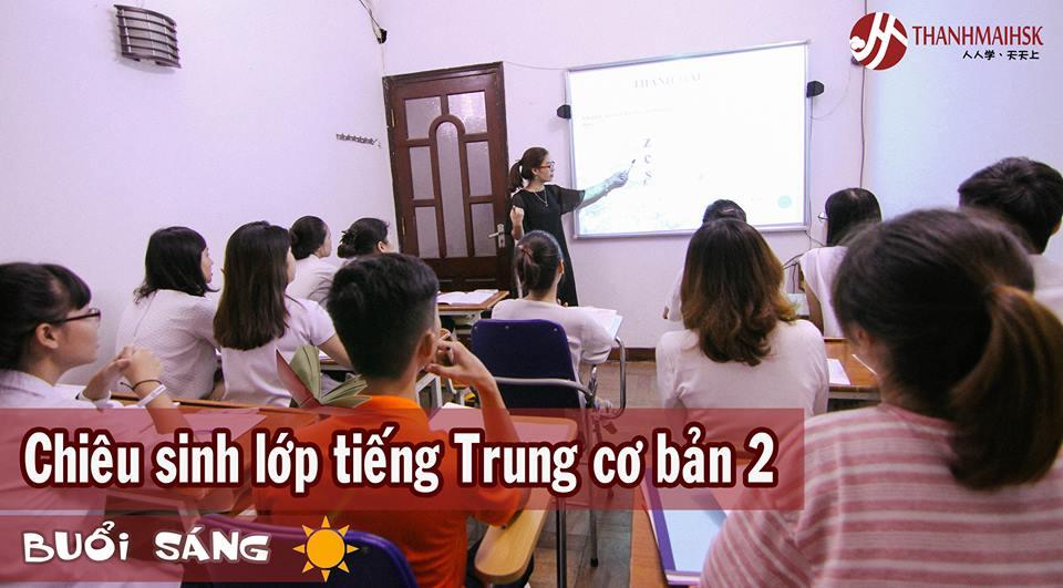 Ưu đãi đăng ký học lớp tiếng Trung cơ bản 2 Ban Ngày