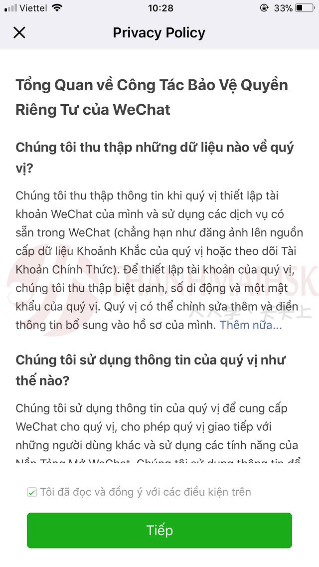 Hình ảnh cách đăng ký Wechat 3