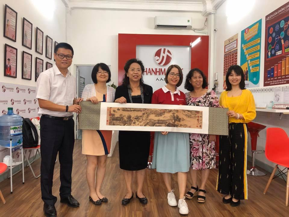 THANHMAIHSK gặp gỡ đại diện Học viện Ngôn ngữ và Văn hoá Bắc Kinh
